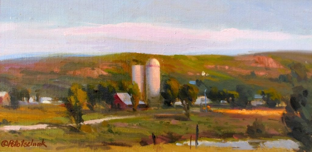 """Land of Plenty"" – 7.5""x 14.5"" - Oil"