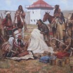 """The White Buffalo Robe 1833"" by Steven Lang OPAM"