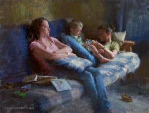 Babysitters (Oil, 18x24)