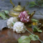 Kettle and Carnations (Oil, 10x10)