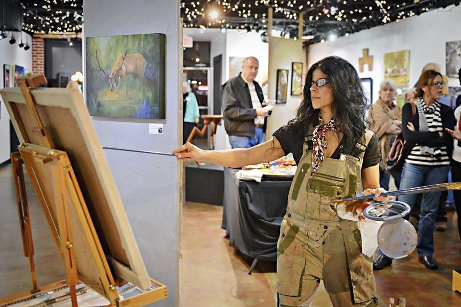 Hilda painting