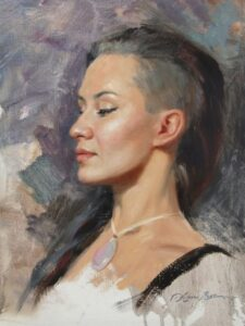 """Mexican Opal"" (3-hour workshop demo) - 16x12"" - oil on linen panel"