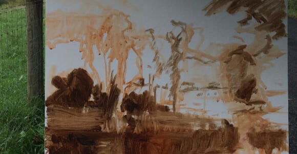 Terra Bella CLashley Underpainting-