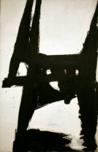 "A beautiful abstract expressionist painting. ""Four Square"", by Franz Kline, 1956"