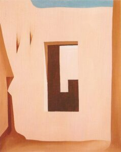 """In the Patio #1"", by Georgia O'Keeffe, 1946"