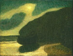 """Moonlit Cove"", by Albert Pinkham Ryder, early to mid-1880's"