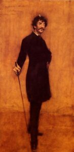 Portrait of Whistler by William Merritt Chase, 1885
