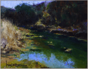 """Hill Country Creek, a study"" by Kim Carlton"