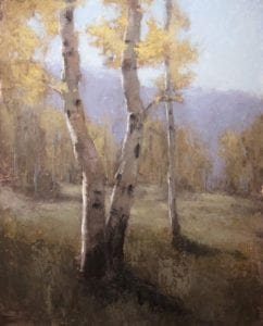 """Autumn Aspens"" by Jane Hunt"