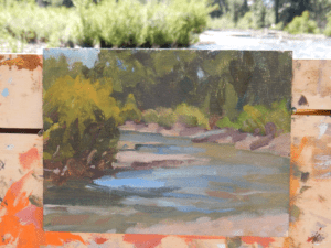 My 6x8 study at Hulen Meadows during Michael's workshop.