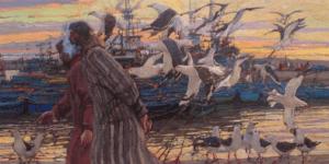 """Harbor Conversation"" by Daud Akhriev"