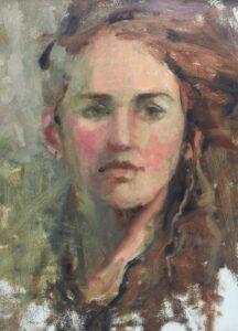 """""""Mallory"""" by Ann Feldman Day 2 of Carolyn's Workshop"""