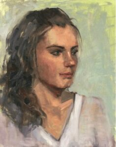 """Michelle"" painted by Ann Feldman before Carolyn's workshop"