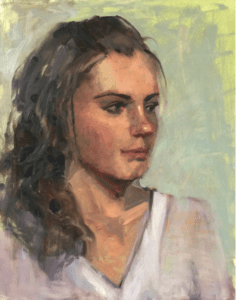 """Michelle"" painted by Ann Feldman before Carolyn's workshop"