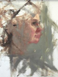 Painting by Ann Feldman after Carolyn Anderson's workshop