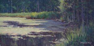 """""""Woodland Water Lilies"""" by Debra Joy Groesser"""
