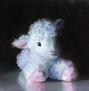 Lovely Lamb, 4x4, alla prima,oil on panel