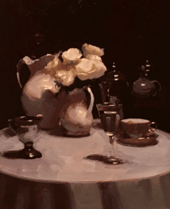 """Interior Still Life"" by Dennis Perrin Collection of Ann Feldman"