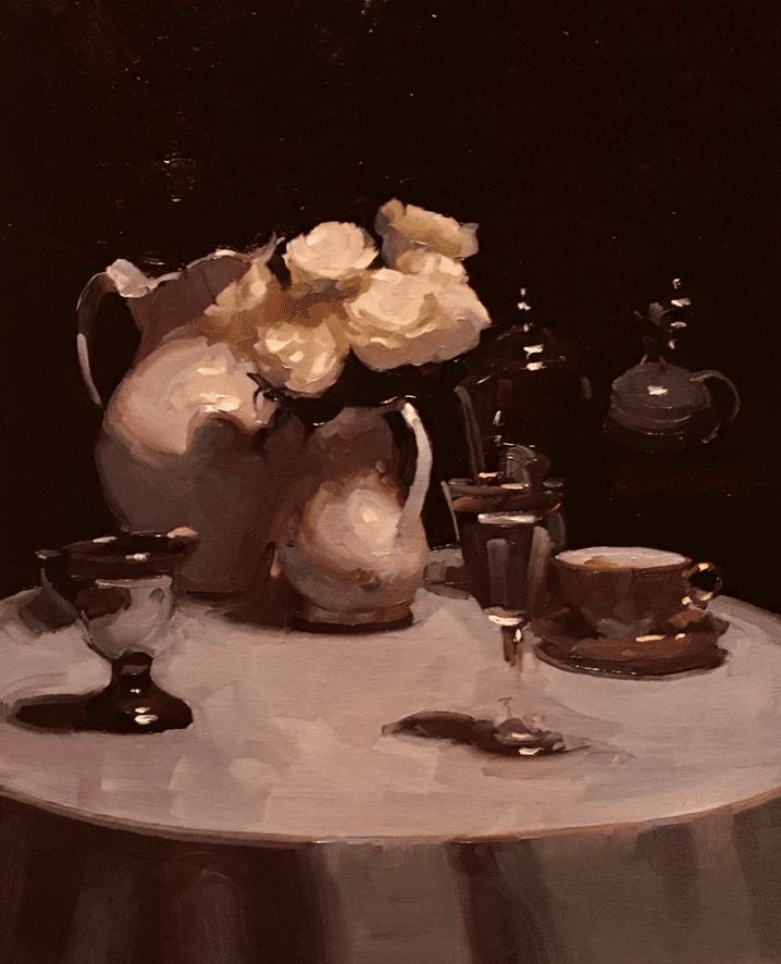 """Interior Still Life"" by Dennis Perrin Collection of Ann Feldman"