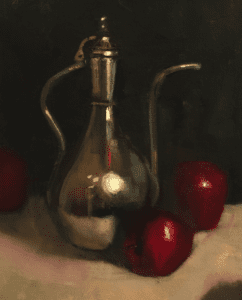 """Ancient Teapot"", 9x11"", oil on canvas"