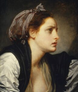 Jean Baptiste Greuze 1870 Study Head of a Woman