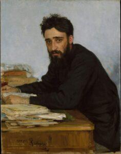 "Ilia Efimovich Repin (Russian, Chuguev 1844-1930 Kuokkala) 1884 ""Vsevolod Mikhailovich Garshin"""