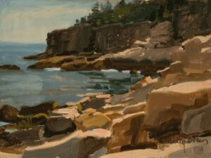 """Cliffs at Otter Point, Maine (Plein Air) - 9"" x 12"" - Oil (Finalist, Bold Brush Competition - Dec. 2015)"