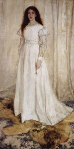 "Whistler James Symphony in ""White number 1 The White Girl"" 1862"