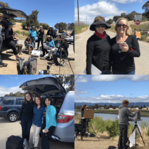 San Francisco California Art Club paint out in Bedwell Bayfront Park