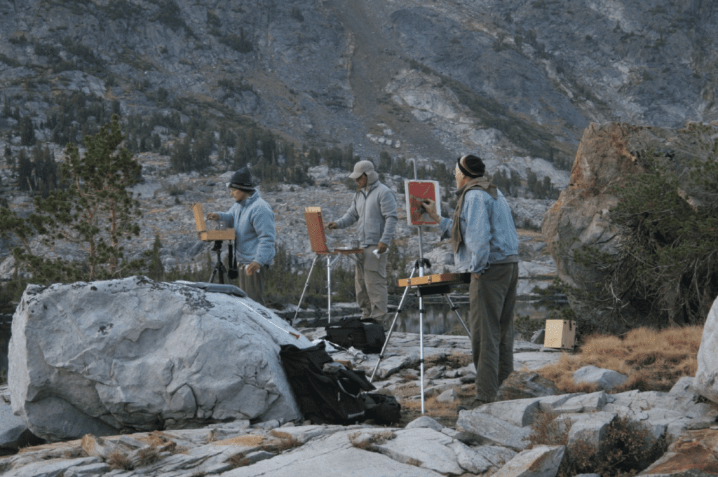 Sierra pack trip artists at work