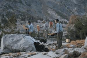 Sierra pack trip artists at work