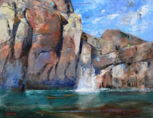 EMERALD FALLS bt Albert Handell OILS 22X28 $18,500 .00