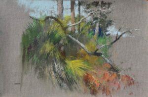 PASTEL 12X18 painted en plein air on Kitty Wallis Belgium Mist Sanded Pastel Paper