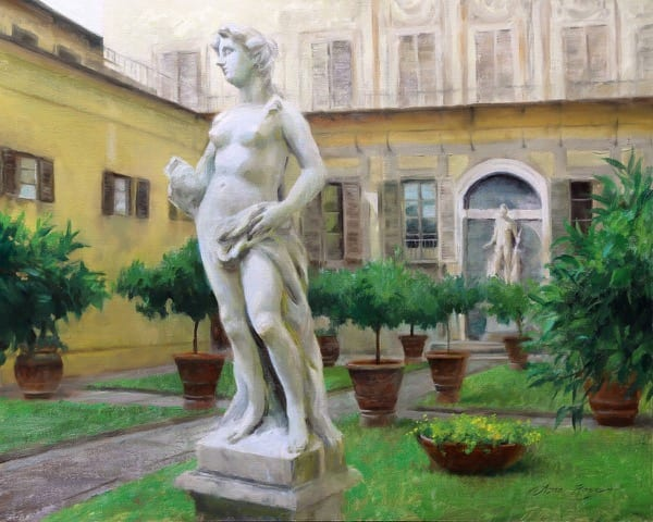 A statue in front of a building  Description automatically generated